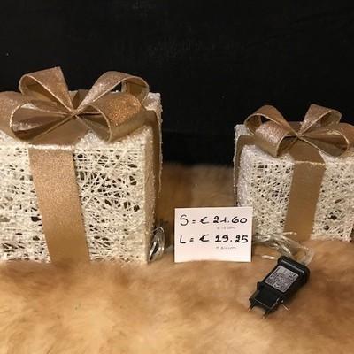 Cadeau kubus verlicht 24cm