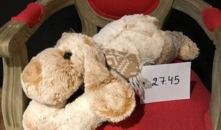 Hond zittend (30cm) / hond liggend (45cm)