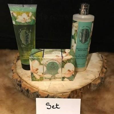 Set badschuim/douchegel/zeep magnolia