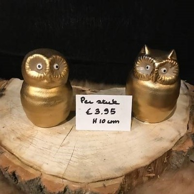 Gouden uil 10cm